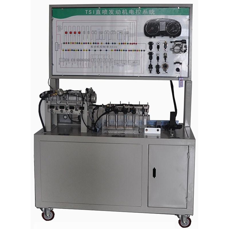 3,测量面板;面板上有发动机电控系统电路图和4mm测量端子,通过万用表